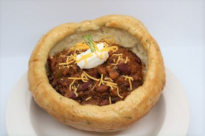 Chili (Low Carb, Keto) with Bread Bowls
